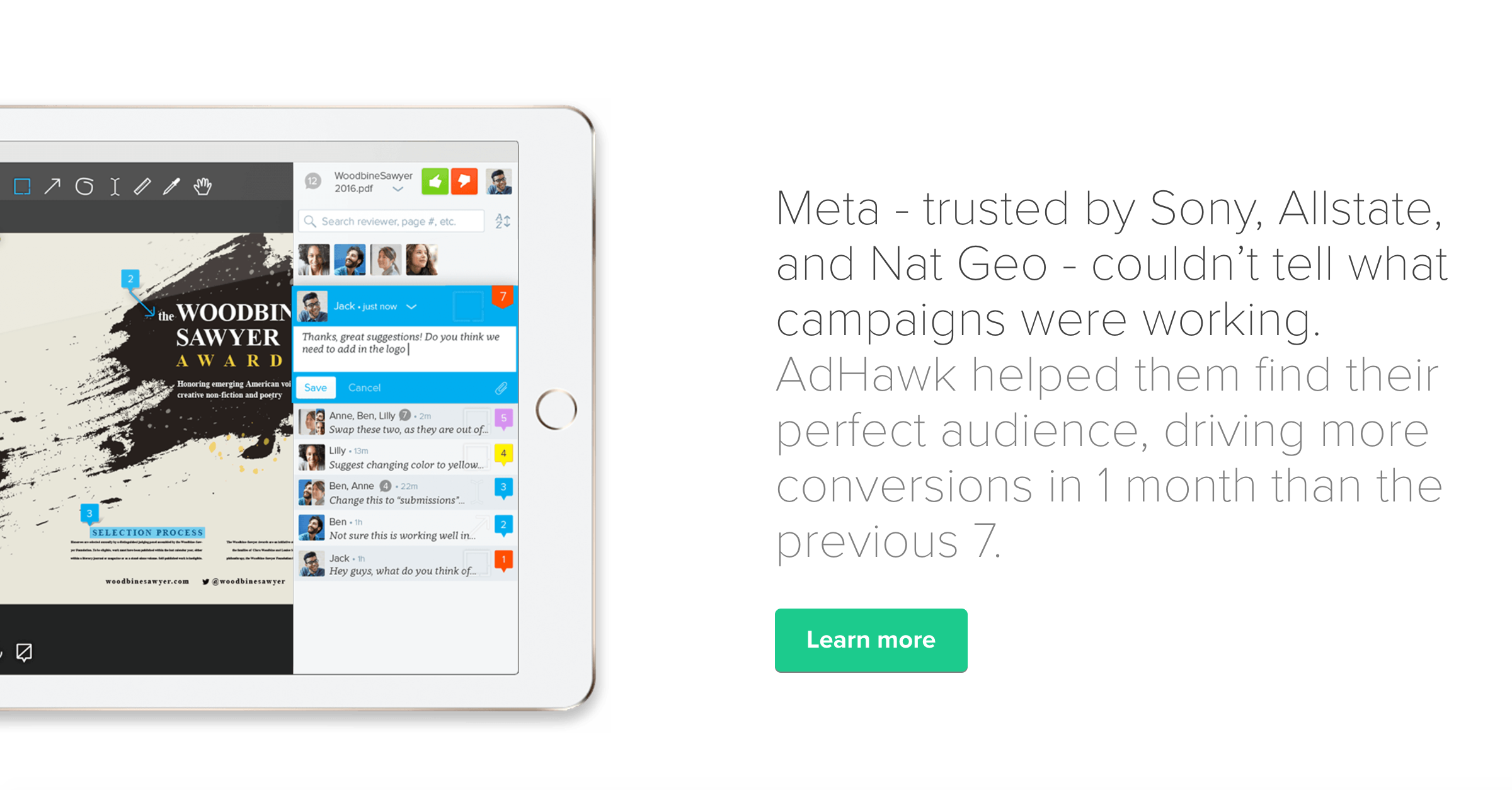 Driving B2B Leads with Digital Advertising | AdHawk's iOS Assistant